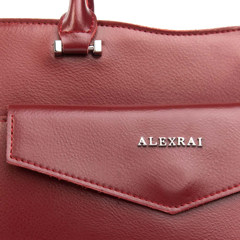 Сумка Женская Классическая кожа ALEX RAI 08-4 8857 wine-red - фото 3