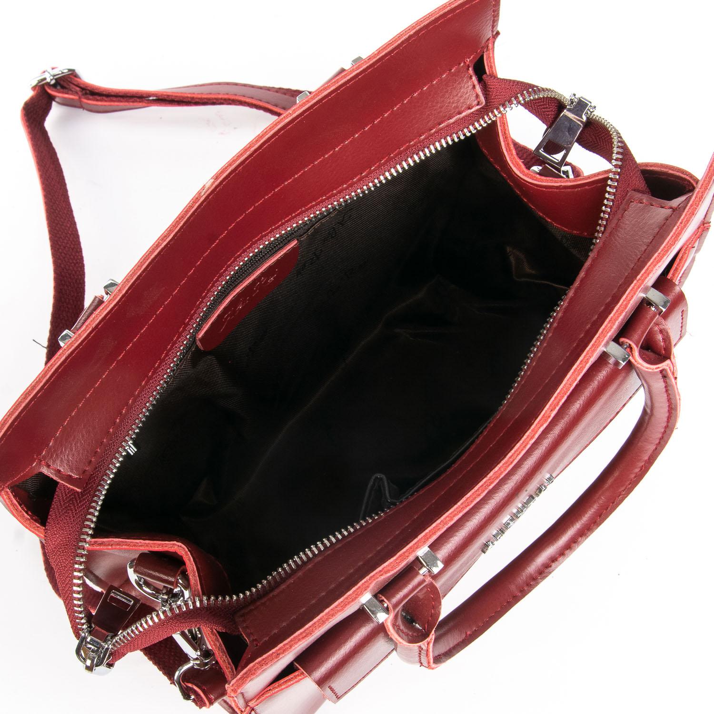 Сумка Женская Классическая кожа ALEX RAI 08-4 8857 wine-red - фото 5