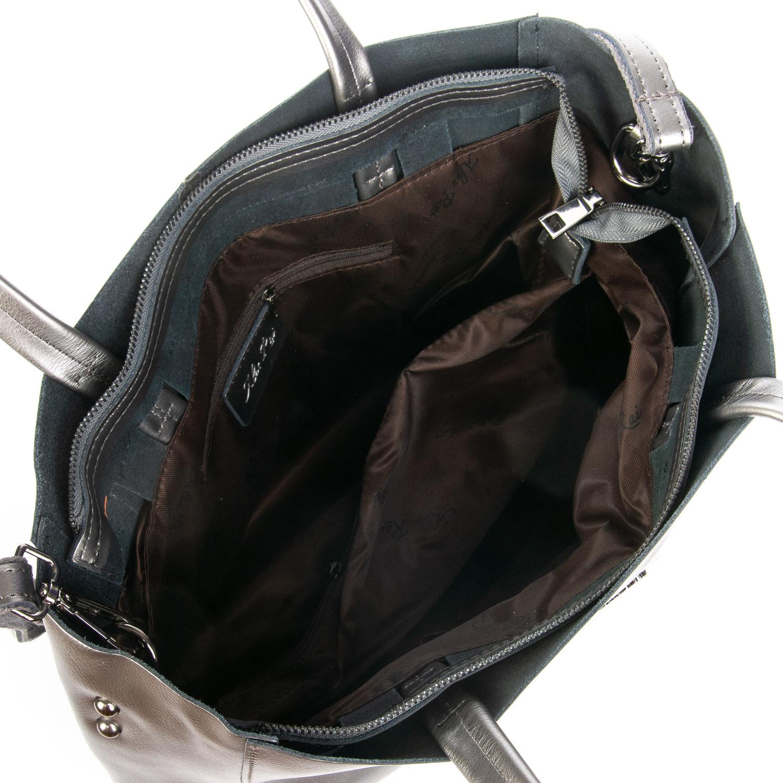 Сумка Женская Классическая кожа ALEX RAI 08-4 8630 grey - фото 5