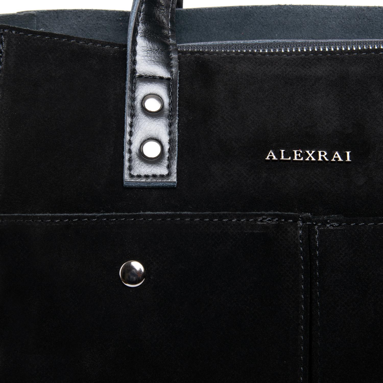 Сумка Женская Классическая замш ALEX RAI 09-1 8713-2 black - фото 3