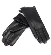 Перчатка Женская кожа F31/19-1 мод3 black флис