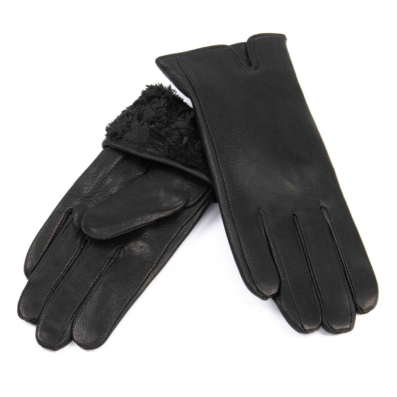Перчатка Женская кожа-олень F33/19-1 мод2 black Флис