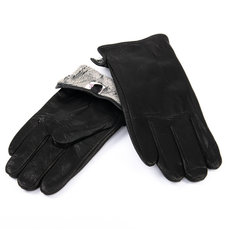 Перчатка Мужская кожа-олень M32/19 мод1 black махра