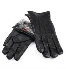 Перчатка Мужская кожа M24/19 мод1 black мех серый