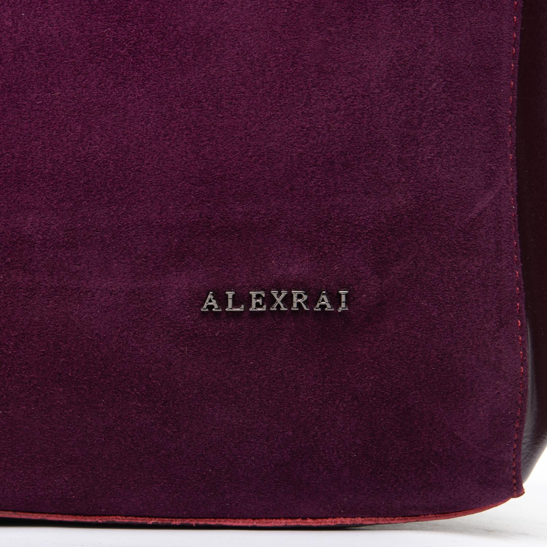 Сумка Женская Классическая замш ALEX RAI 09-1 8630-220 wine-red
