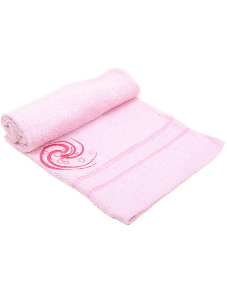 Домашний Текстиль Полотенце Лицевое махра 57-2-3 pink