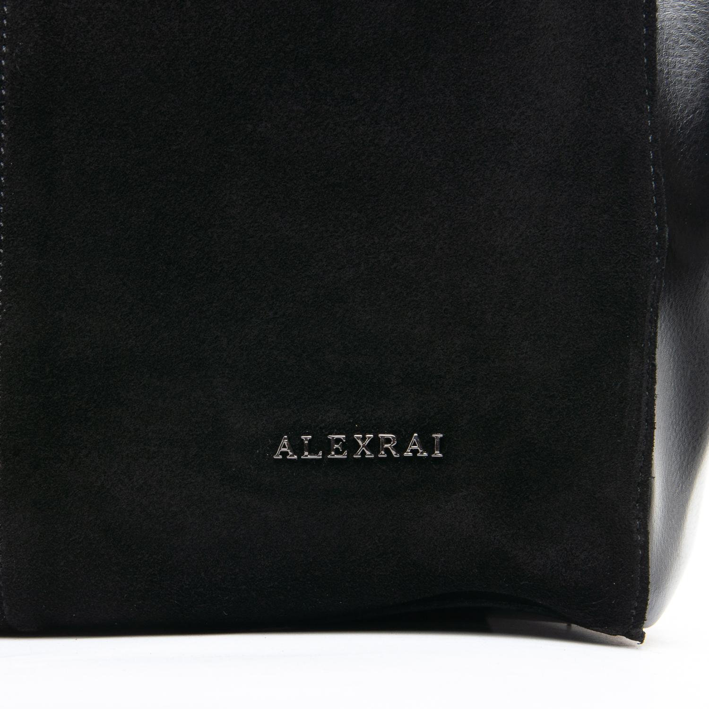 Сумка Женская Классическая замш ALEX RAI 09-1 8630-220 black - фото 5