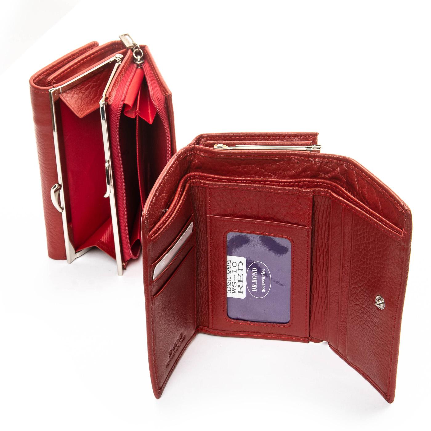 Кошелек Classic кожа DR. BOND WS-10 red