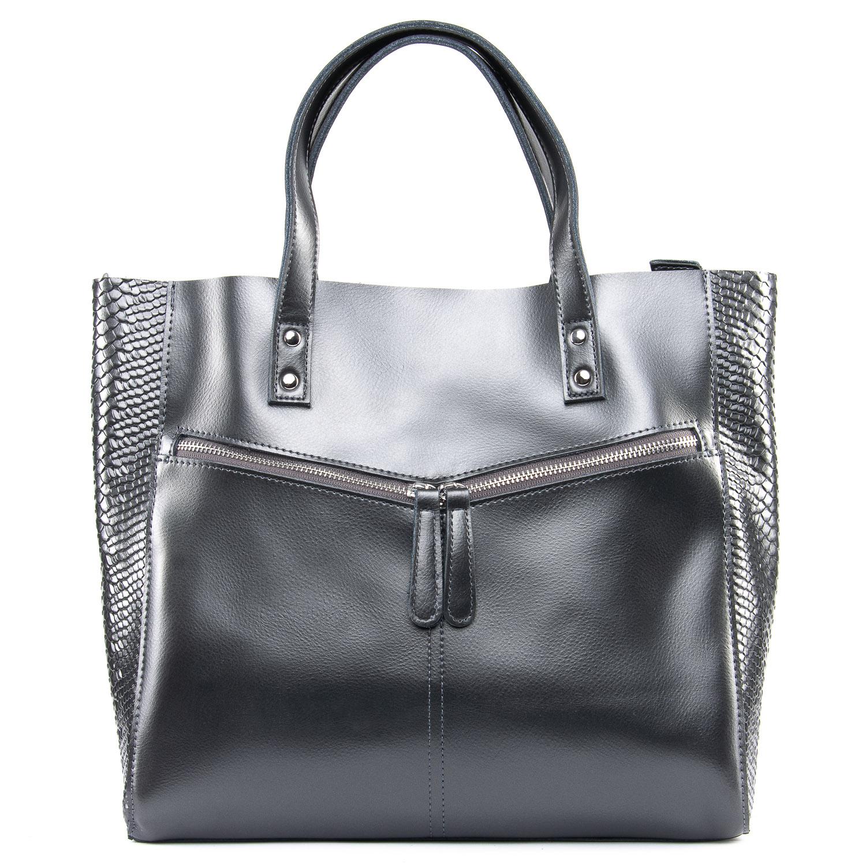 Сумка Женская Классическая кожа 09-4 8713-1 grey