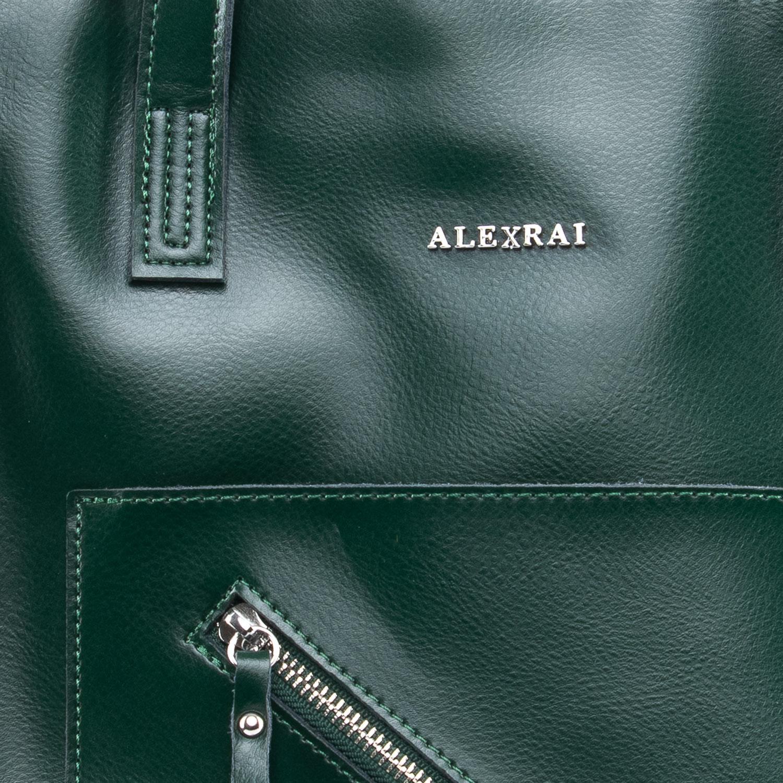 Сумка Женская Классическая кожа ALEX RAI 09-3 9926 green - фото 3