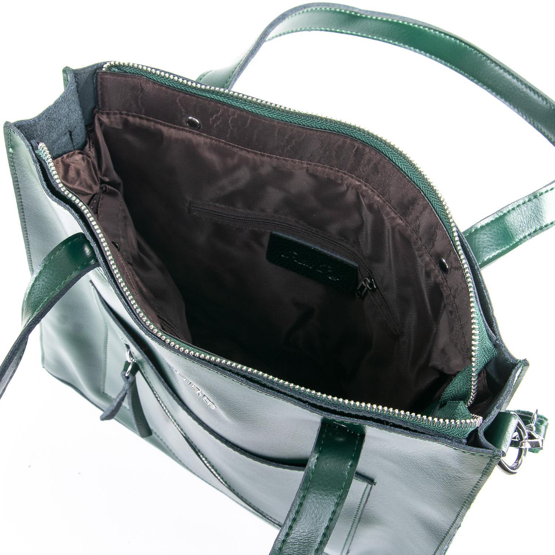 Сумка Женская Классическая кожа ALEX RAI 09-3 9926 green - фото 5