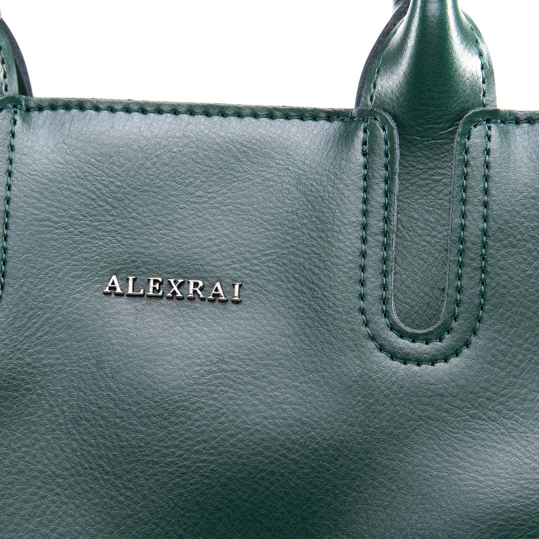 Сумка Женская Классическая кожа ALEX RAI 09-3 8633 green - фото 3