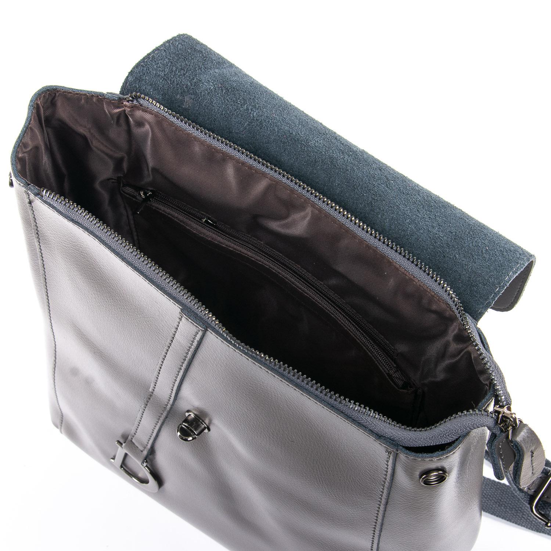 Сумка Женская Рюкзак кожа ALEX RAI 09-3 360 grey - фото 5