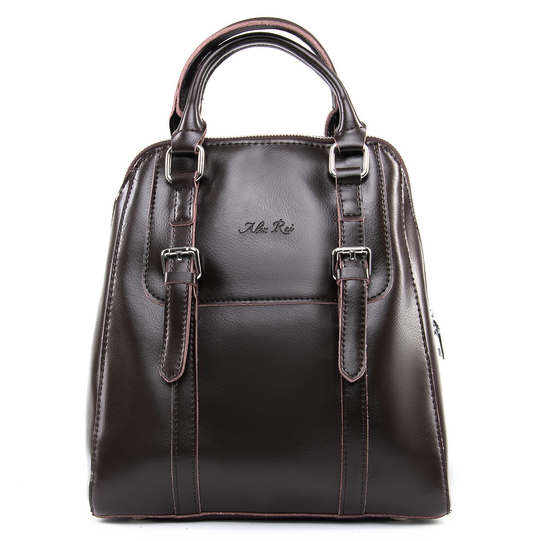 Сумка Женская Рюкзак кожа ALEX RAI 09-3 8778 brown