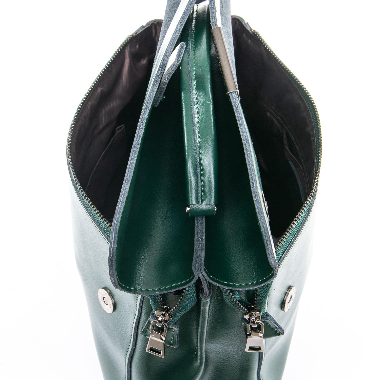 Сумка Женская Классическая кожа ALEX RAI 09-3 9927 green - фото 5