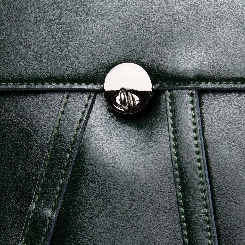 Сумка Женская Рюкзак кожа ALEX RAI 09-3 360 green - фото 3