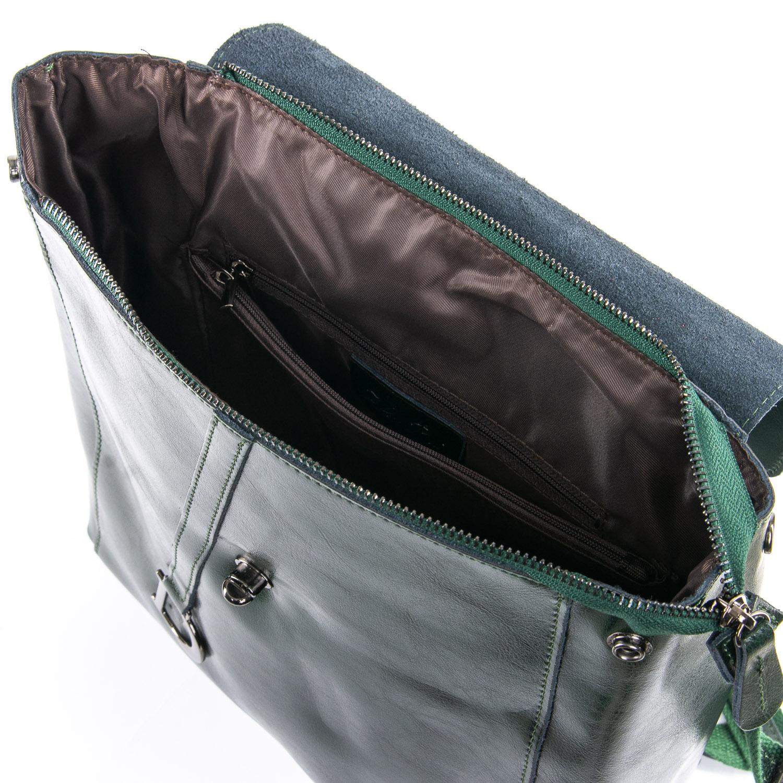Сумка Женская Рюкзак кожа ALEX RAI 09-3 360 green - фото 5