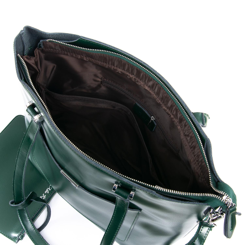 Сумка Женская Классическая кожа ALEX RAI 09-3 9322 green