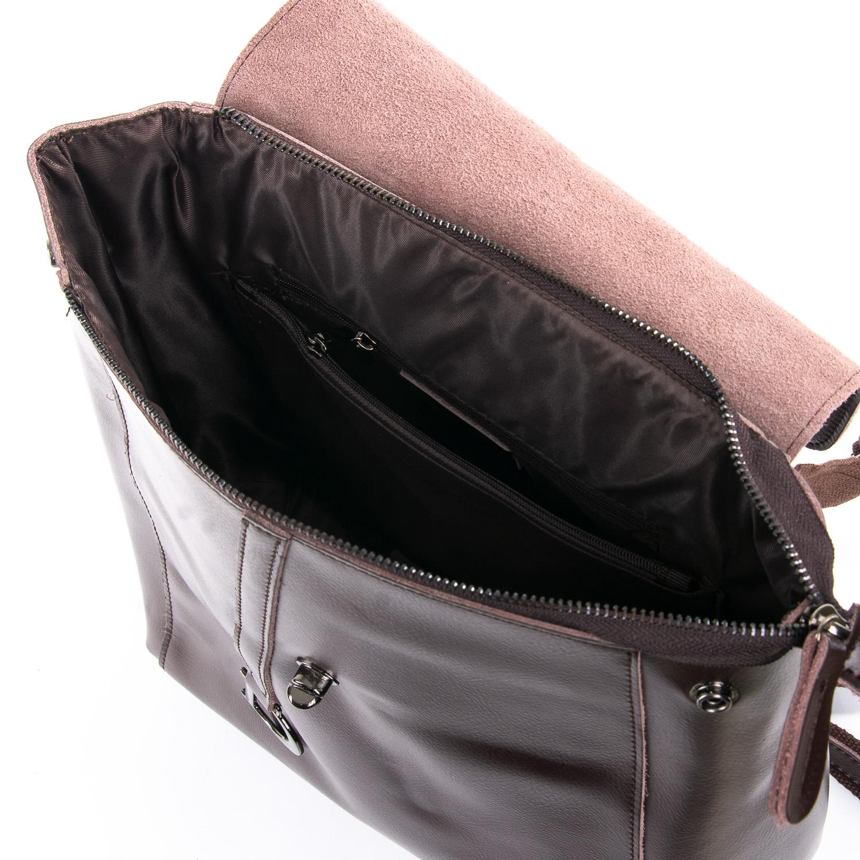 Сумка Женская Рюкзак кожа ALEX RAI 09-3 360 brown - фото 5