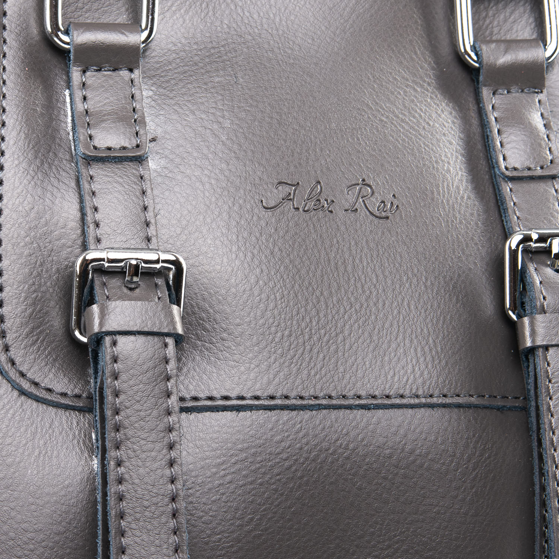 Сумка Женская Рюкзак кожа ALEX RAI 09-3 8778 grey - фото 3