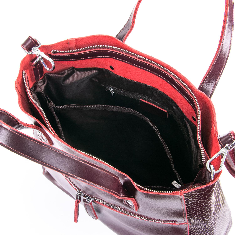 Сумка Женская Классическая кожа 09-4 8713-1 claret - фото 5
