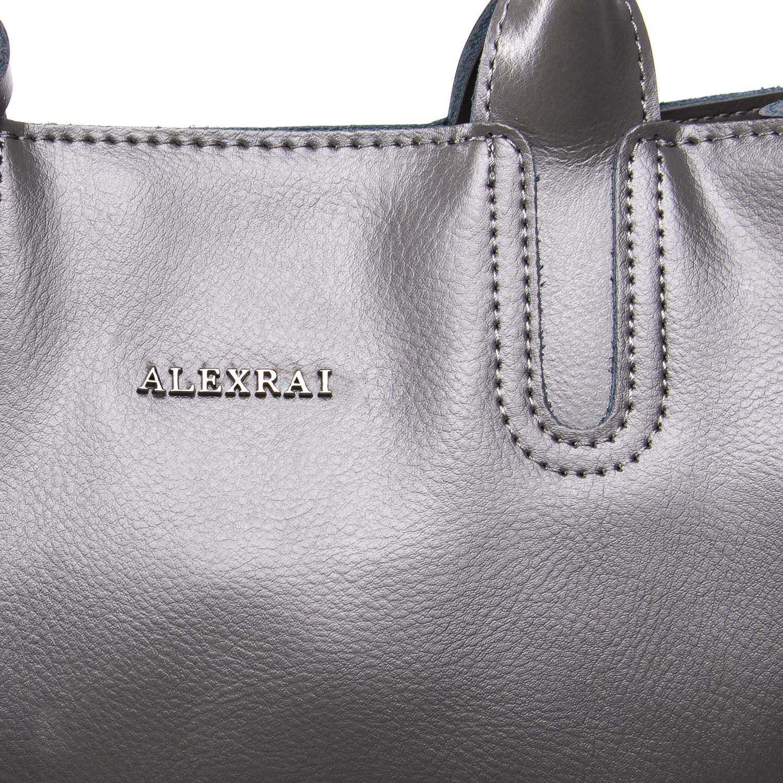 Сумка Женская Классическая кожа ALEX RAI 09-3 8633 grey - фото 3