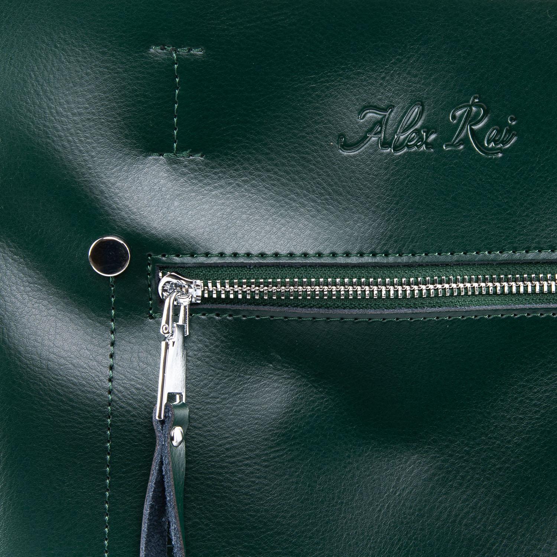 Сумка Женская Классическая кожа ALEX RAI 09-3 8773 green - фото 3