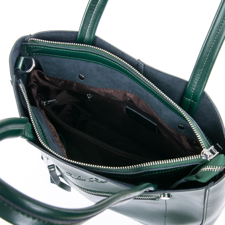 Сумка Женская Классическая кожа ALEX RAI 09-3 8773 green - фото 5
