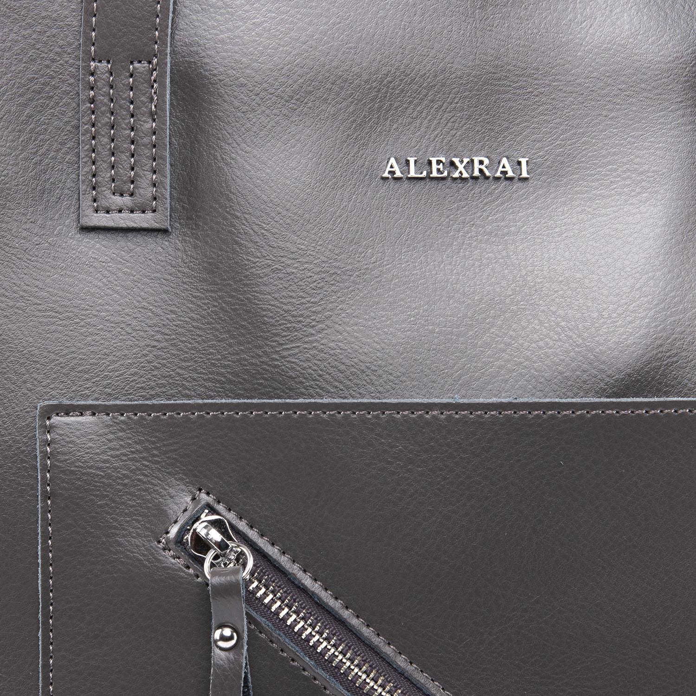 Сумка Женская Классическая кожа ALEX RAI 09-3 9926 grey - фото 3