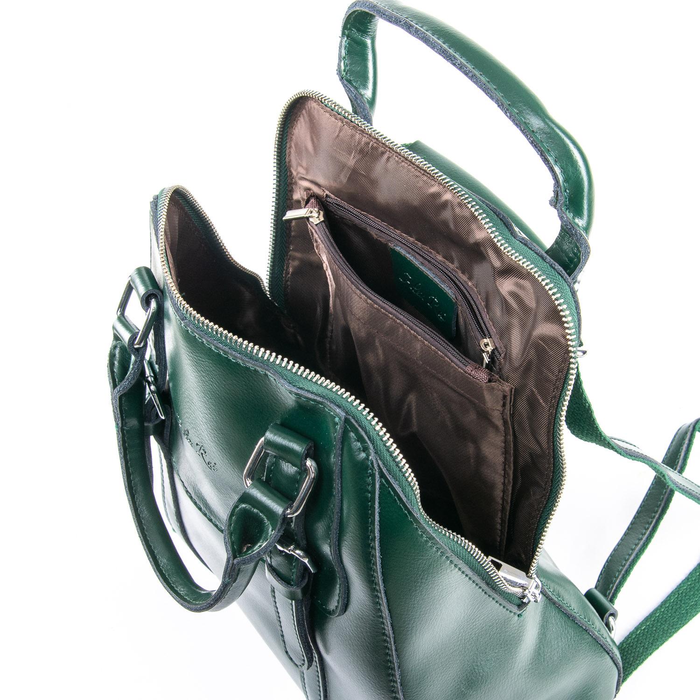 Сумка Женская Рюкзак кожа ALEX RAI 09-3 8778 green - фото 5