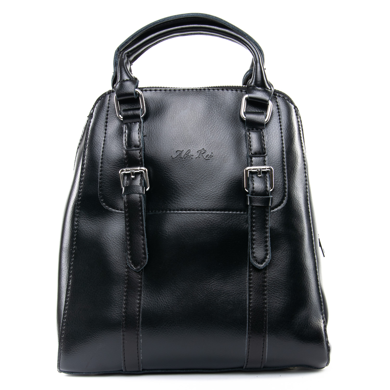 Сумка Женская Рюкзак кожа ALEX RAI 09-3 8778 black