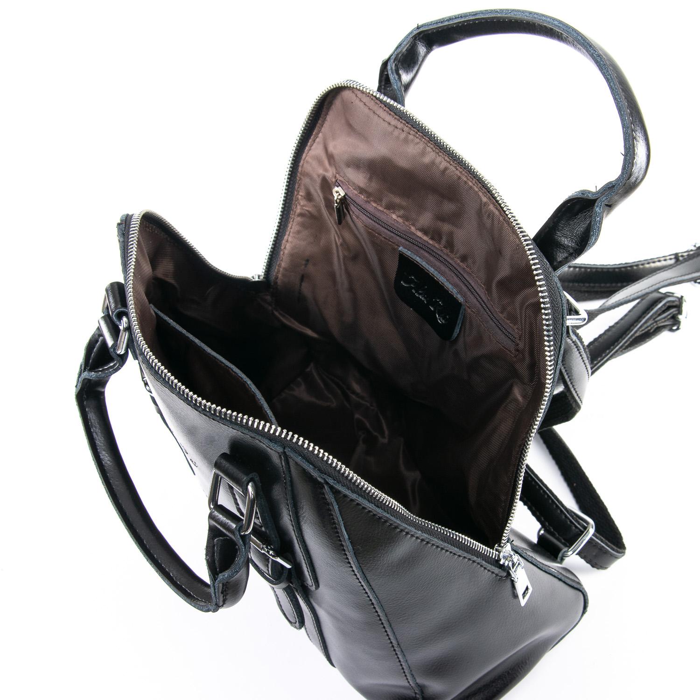 Сумка Женская Рюкзак кожа ALEX RAI 09-3 8778 black - фото 5