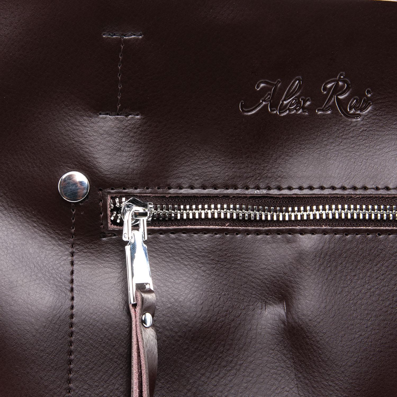 Сумка Женская Классическая кожа ALEX RAI 09-3 8773 brown - фото 3