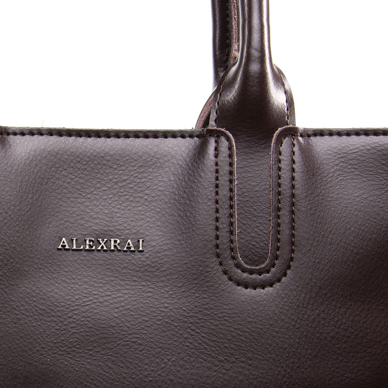 Сумка Женская Классическая кожа ALEX RAI 09-3 8633 coffee - фото 3