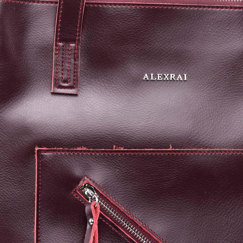 Сумка Женская Классическая кожа ALEX RAI 09-3 9926 wine-red - фото 3