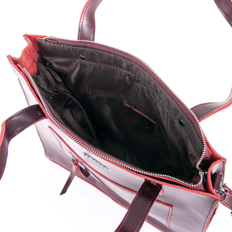 Сумка Женская Классическая кожа ALEX RAI 09-3 9926 wine-red - фото 5