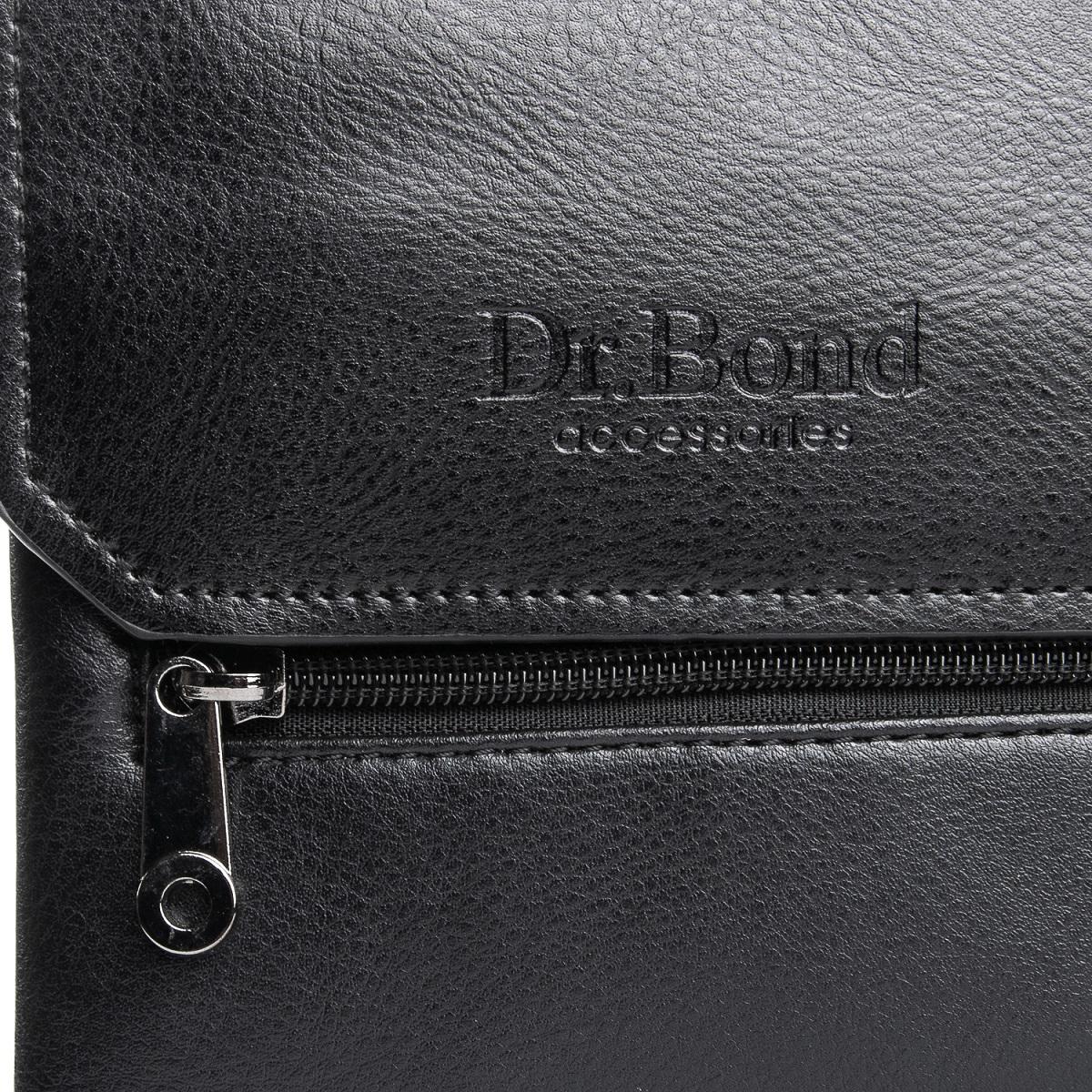 Сумка Мужская Планшет иск-кожа DR. BOND GL 213-0 black - фото 3