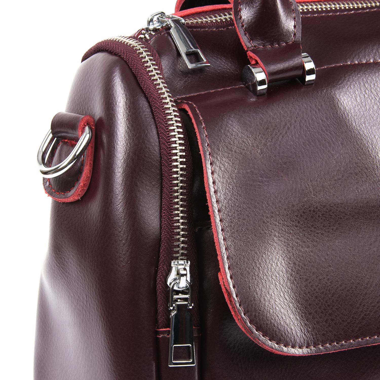 Сумка Женская Классическая кожа ALEX RAI 09-2 2231 burgundy - фото 3