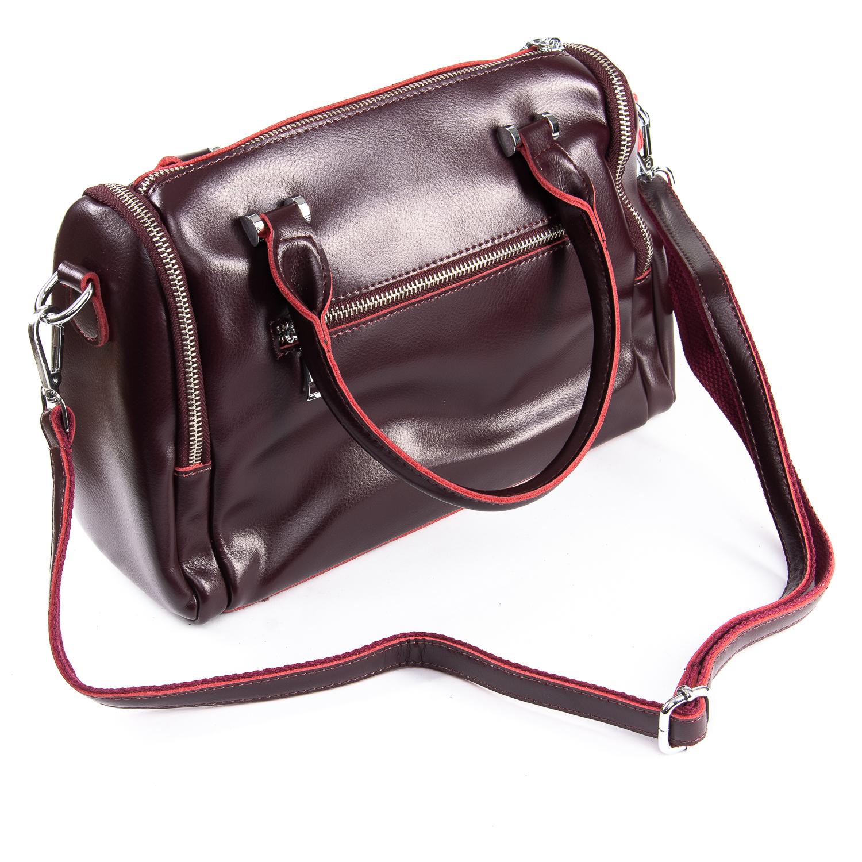 Сумка Женская Классическая кожа ALEX RAI 09-2 2231 burgundy - фото 4