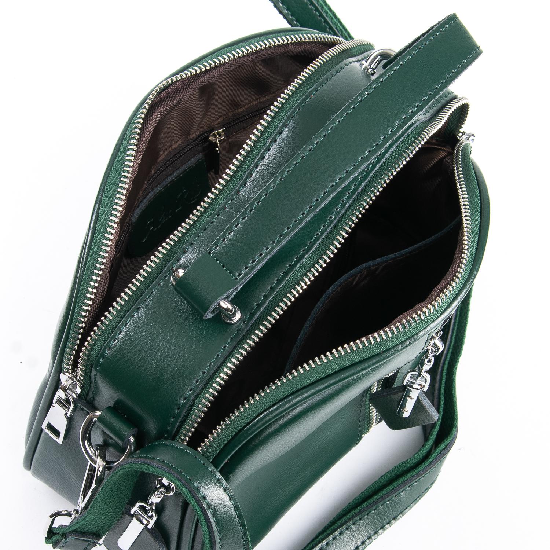 Сумка Женская Классическая кожа ALEX RAI 09-2 8389 green - фото 5
