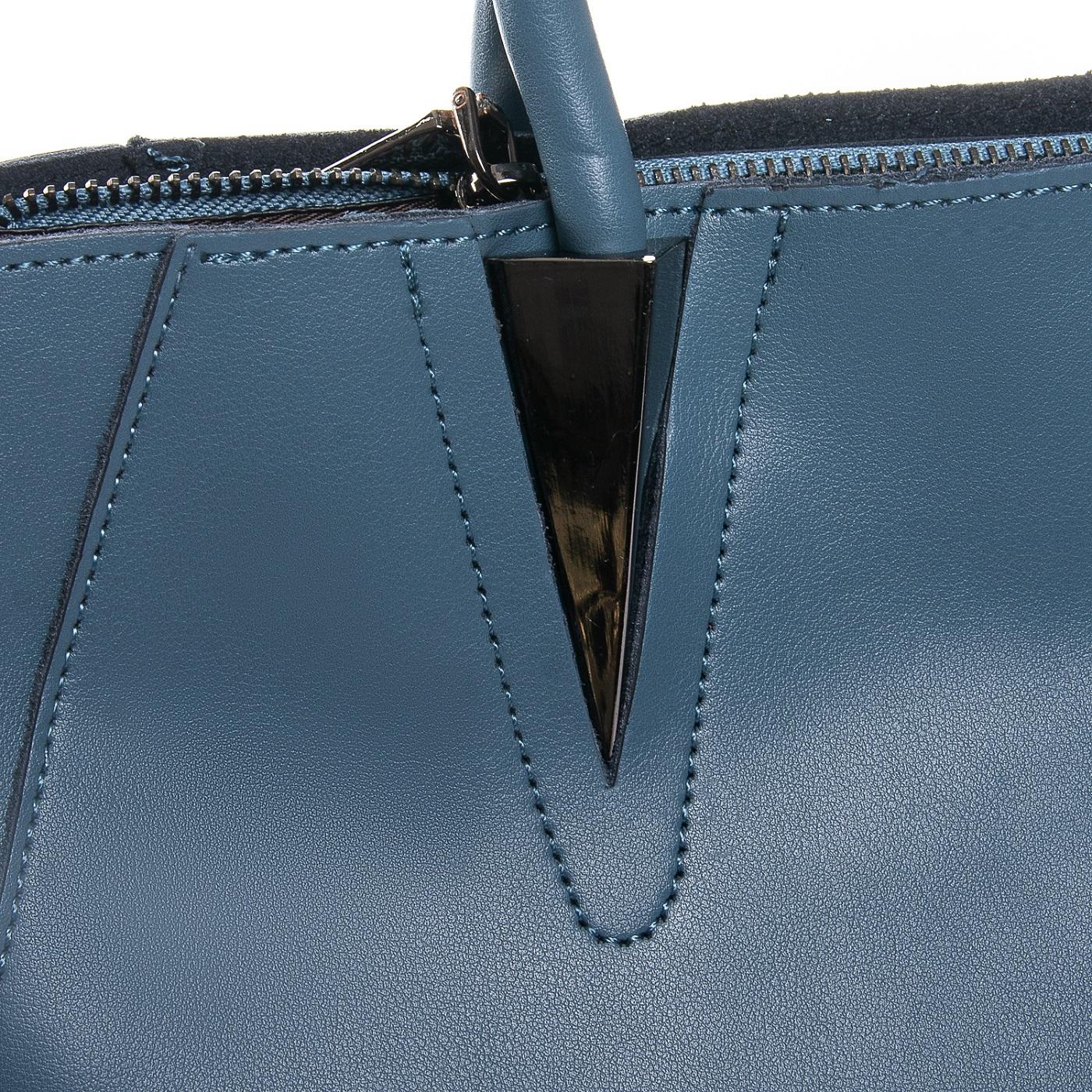 Сумка Женская Классическая кожа ALEX RAI 010-1 8778-906 blue - фото 3