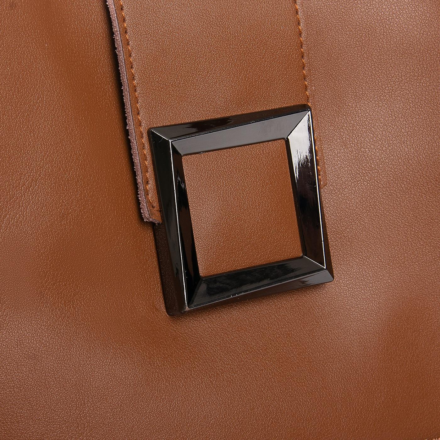 Сумка Женская Классическая кожа ALEX RAI 010-1 9924-206 yellow-brown - фото 3
