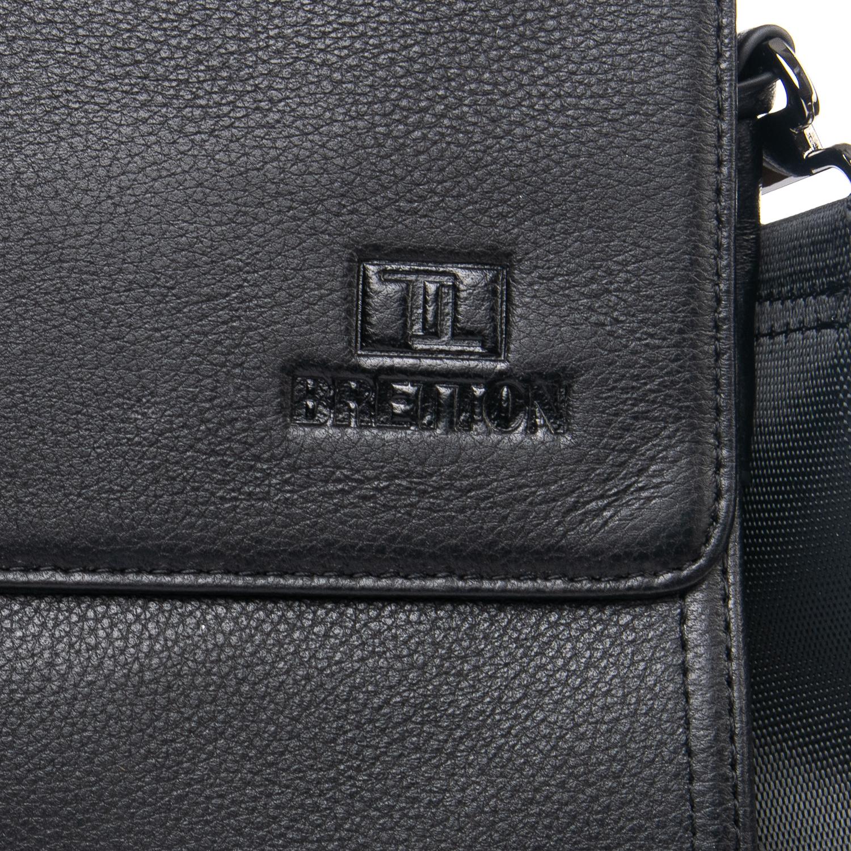 Сумка Мужская Планшет кожаный BRETTON BE 1631-3 black - фото 3