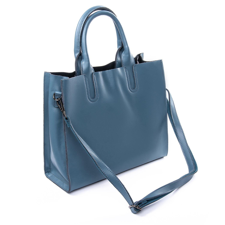 Сумка Женская Классическая кожа ALEX RAI 010-1 8634-1 blue - фото 3