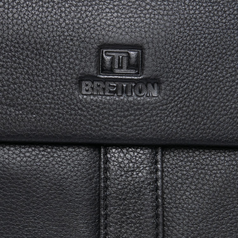Сумка Мужская Планшет кожаный BRETTON BE 3387-3 black - фото 3