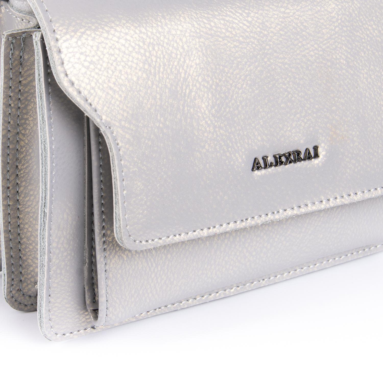 Сумка Женская Клатч кожа ALEX RAI 010-1 8543 grey - фото 3