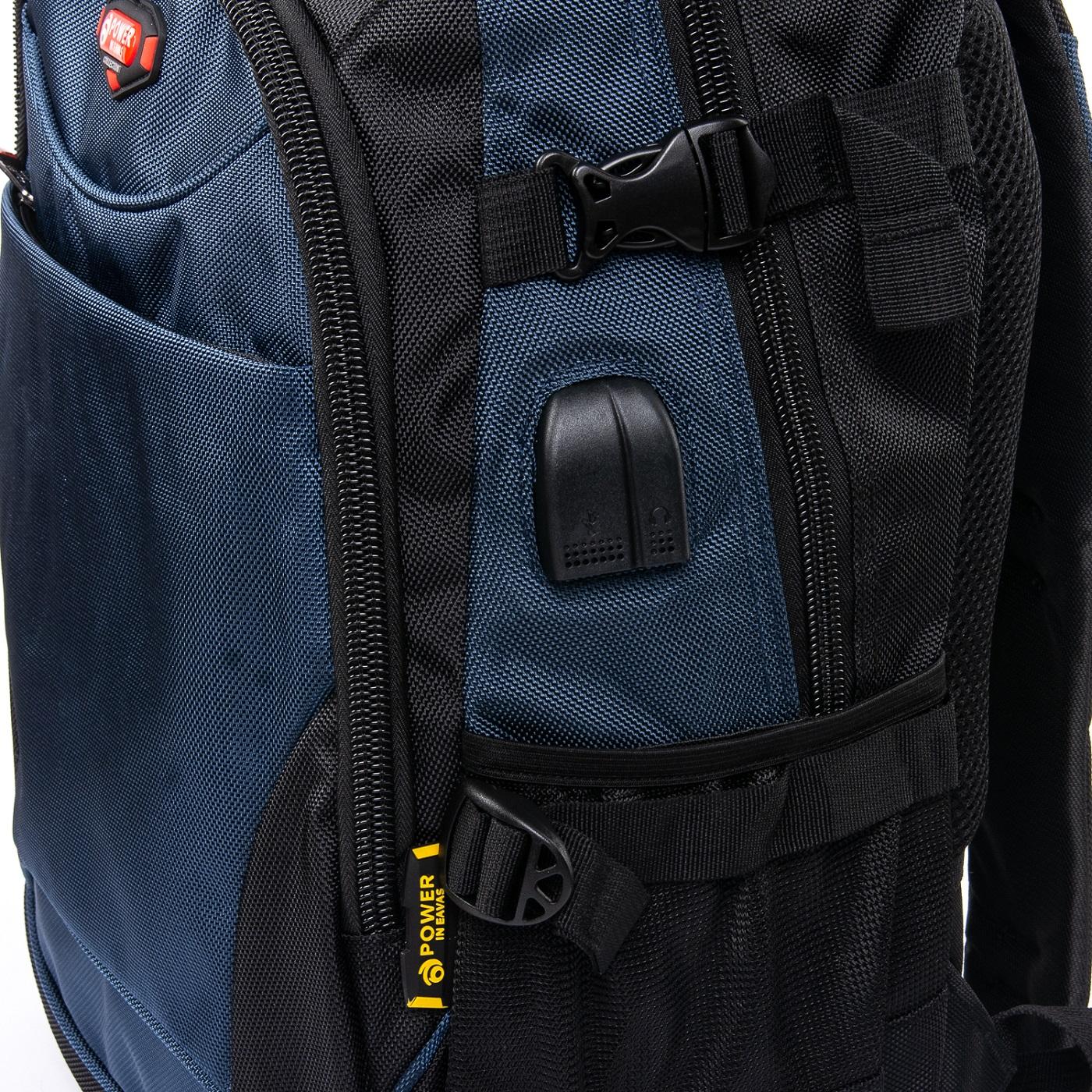 Рюкзак Городской нейлон Power In Eavas 9629 black-blue - фото 3