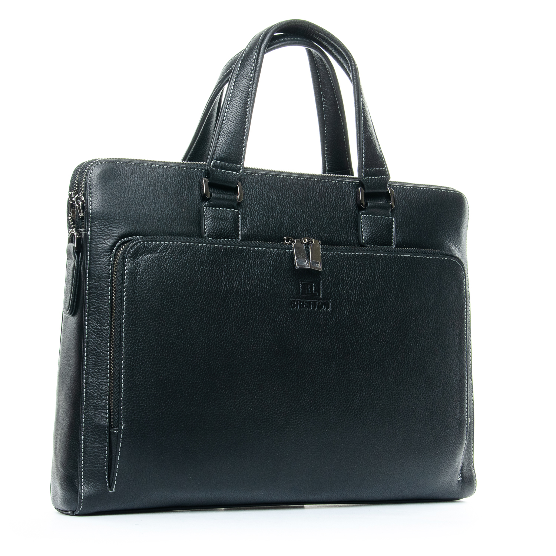 Сумка Мужская Портфель кожаный BRETTON 3627-1 black