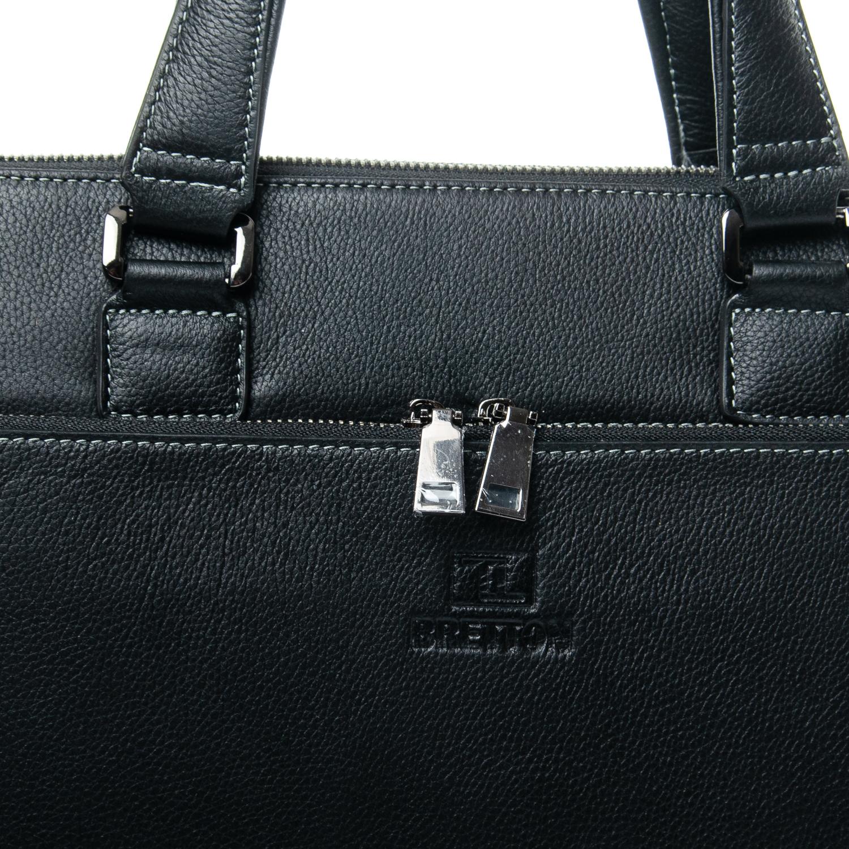Сумка Мужская Портфель кожаный BRETTON 3627-1 black - фото 3