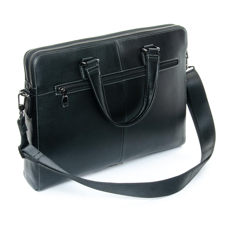 Сумка Мужская Портфель кожаный BRETTON 3627-1 black - фото 4